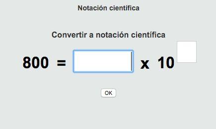 Notación científica con ThatQuiz.
