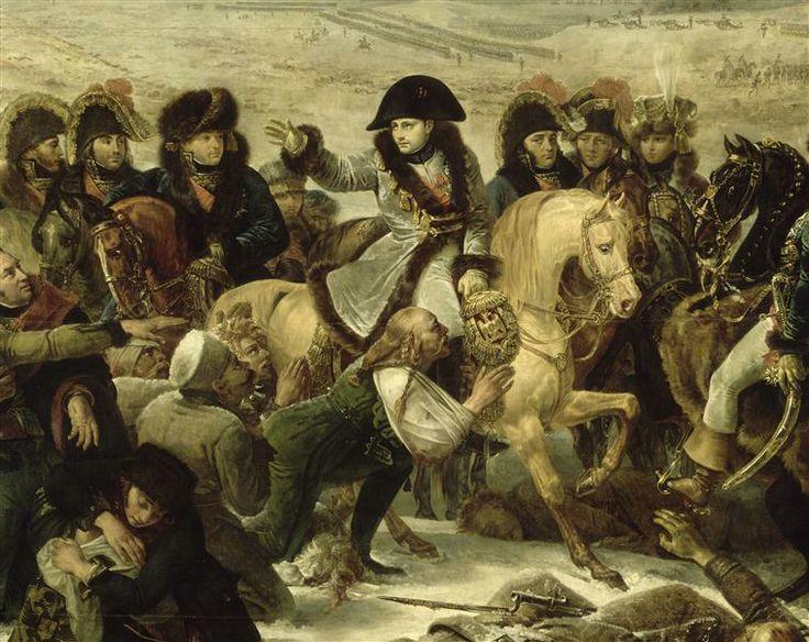 napoleon 1er sur le champ de bataille d'eylau 9fev 1807 baron gros
