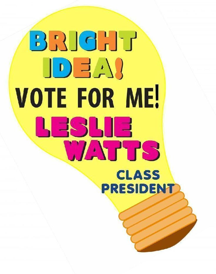 Classroom Representative Ideas ~ Make an election poster class president project school