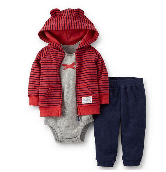 Retail 2016 nieuwe baby jongen kleding 3 piece set kids jongens meisje kleding pak jas + broek + bodysuit, zuigeling kleding in beschrijving:Babykleding Set Sizes:6-9-12-18-24M Prompt:over de korting, als u 5 sets, pls contact met van kleding sets op AliExpress.com | Alibaba Groep