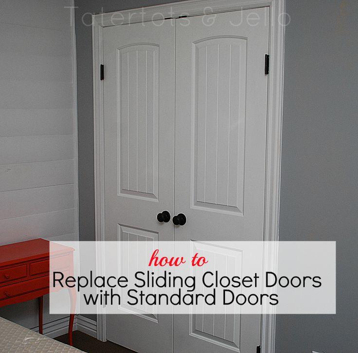 how to replace sliding closet doors with standard doors