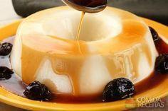 Receita de Manjar de coco com calda de ameixa especial em receitas de doces e sobremesas, veja essa e outras receitas aqui!