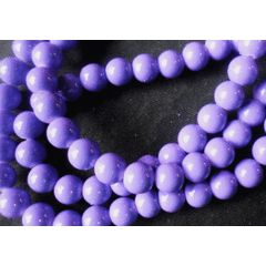 Purple Opaque Glass Rounds  , 8mm - Per String of  /- 105. for R12.00