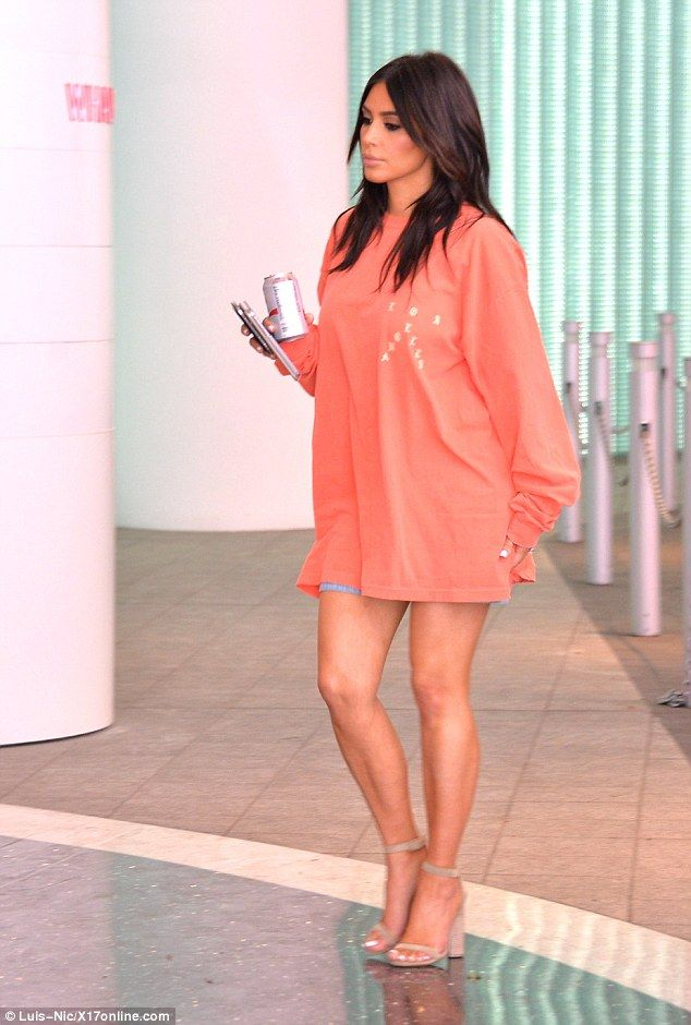 Here comes Kim: Earlier the mother-of-two had shared an insight into her beauty regime, wi...