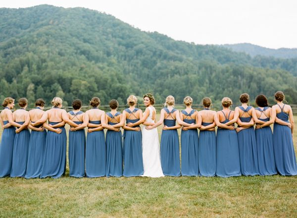 gorgeous blue bridesmaid dresses | Graham Terhune #wedding