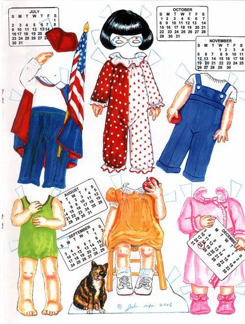Calendar Girl - from Origami Bears 2 of 2