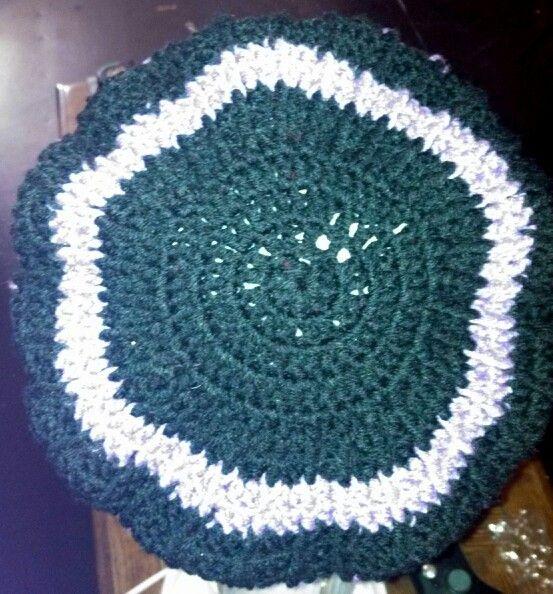 A hat I made. For sale. Storenvy.com/mzqcrochets
