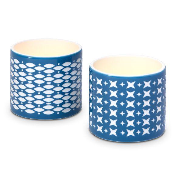 Duo de porte-bougies à réchaud grec