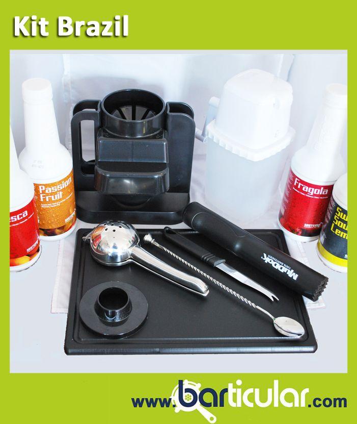 Kit Brazil, accessori e prodotti per preparare Caipirinha & Caipiroska. http://www.barticular.com/store/kit-completi-barman/kit-brazil-caipirinha-caipiroska