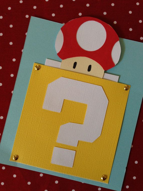 25 invitaciones de power-Up Super Mario Bros. por ShannaRaeH
