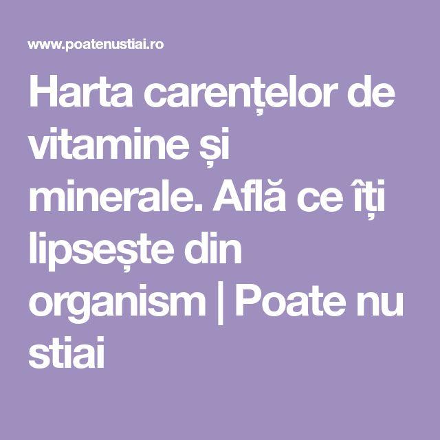 Harta carențelor de vitamine și minerale. Află ce îți lipsește din organism | Poate nu stiai
