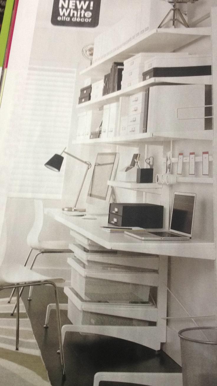 1000 images about elfa shelving system on pinterest for Elfa desk system