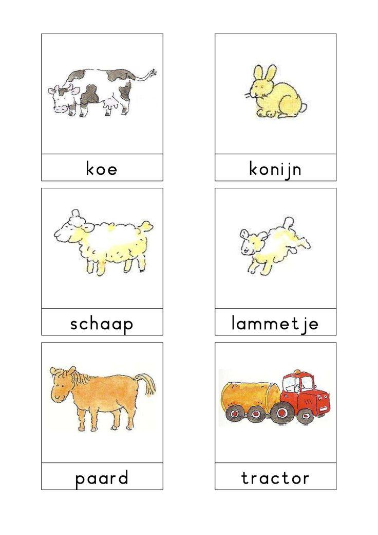 Woordkaarten Bas 'De boerderij' 2