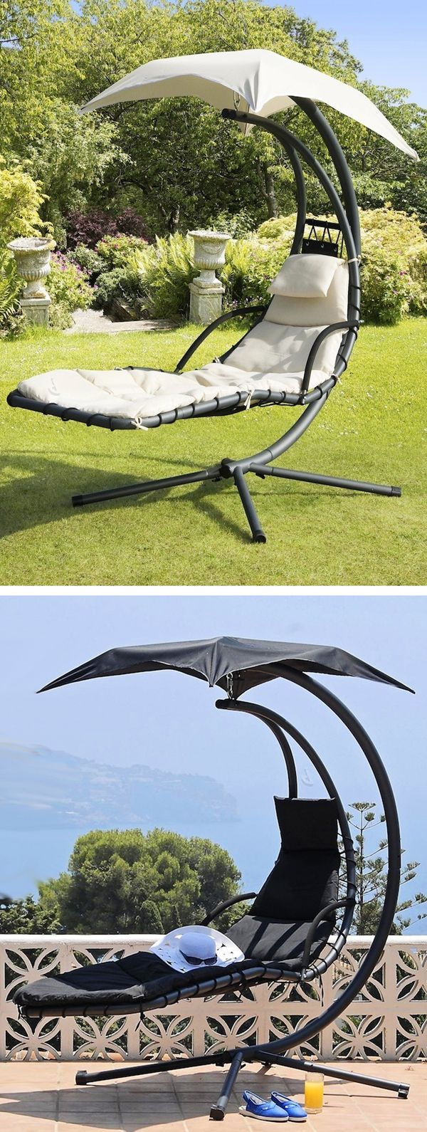 Helicopter canopy porch swing chair! #furniture_design