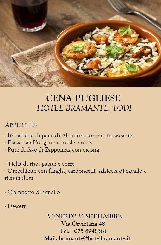 Delicious dinner with typical dishes from Puglia!