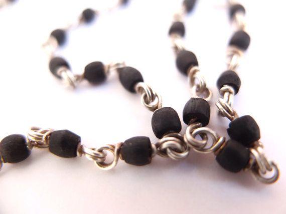 Old Tulsi Necklace Silver Necklace Ancient Mala Prayer by PierreCachee   Etsy