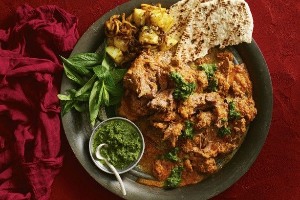 Slow cooked lamb is always a crowd pleaser. But give it some Indian flair - cumin, chilli, paprika and yoghurt - and you'll be lapping it up with your naan bread.