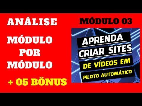 Crie Site de Videos em Piloto Automático - Módulo 3 | Curso Criar Site - YouTube