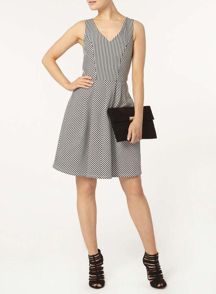 **Luxe Monochrome stripe prom dress - Dorothy Perkins