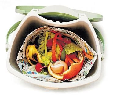 with some simple folds you can easily make these nocost compost pail liners