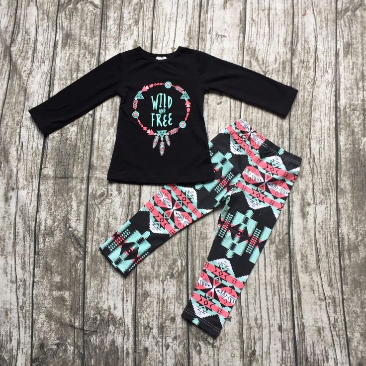 2016 Fall/ Winter baby girls wild free cotton full long sleeve clothing baby Fall outfits girls boutiques aztec pants clothing,  #Clothes #Shop #Ruffles #Baby #TuTus #Bows #Affordable #Cute