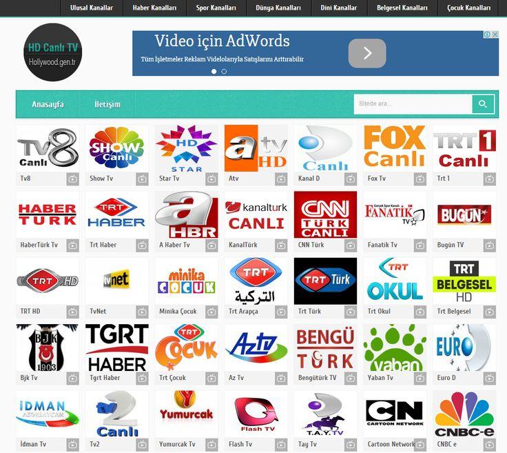 Canlı Tv HD Kalitesinde http://www.hollywood.gen.tr/ Siteyi zayaret ederek en güzel tvleri bedava izleyin.