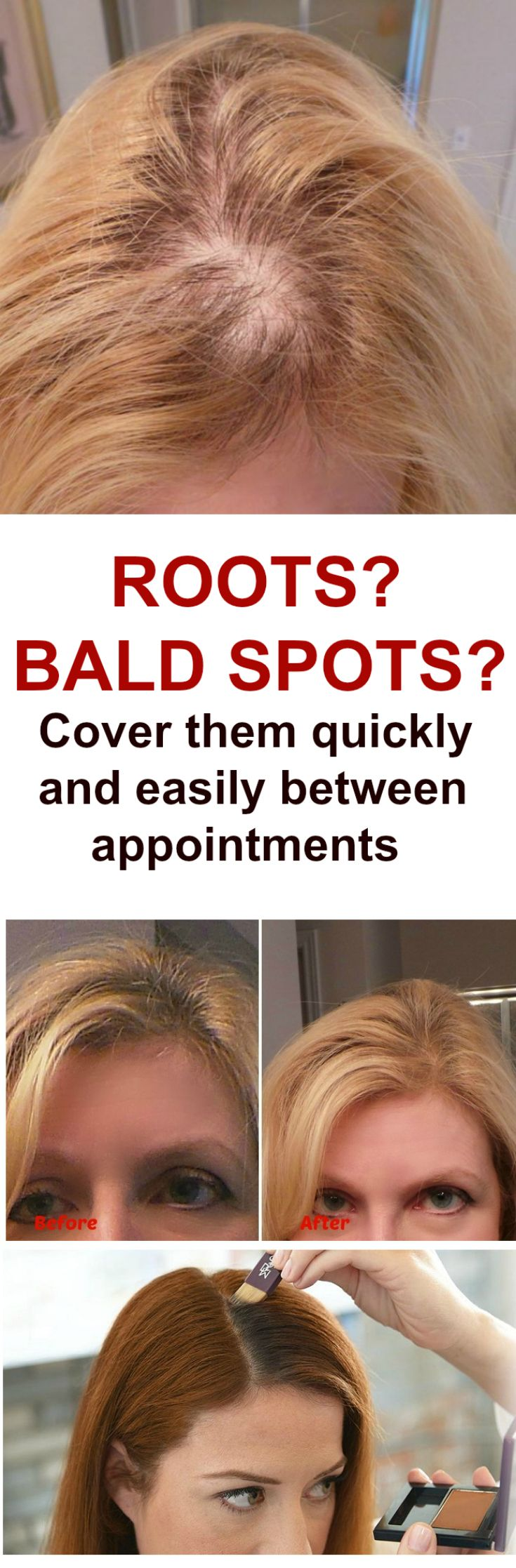 How do I cover Bald Spots? How to Cover Roots? Bald spot