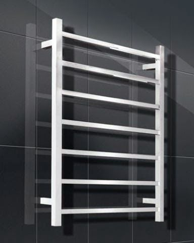 Heated Towel Rails premium 304 Polished Stainless Steel, Hard wired or Plug in, LH or RH, Wide range of sizes, Round or Square profile, 5 year replacement Warranty, Australian Approved, IP rating - IP55. Available at Elite Hardware.