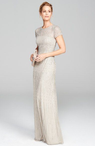 Adrianna Papell Embellished Mesh Gown (Regular & Petite) available at #Nordstrom
