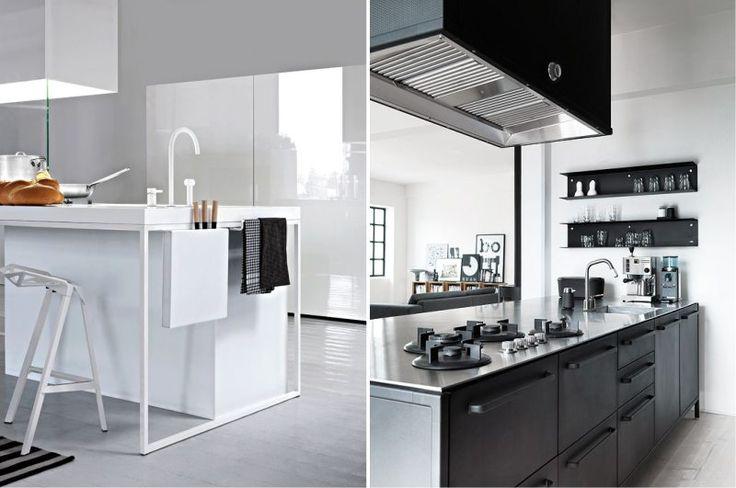 Дизайн кухни с островом в стиле минимализм и хайтек