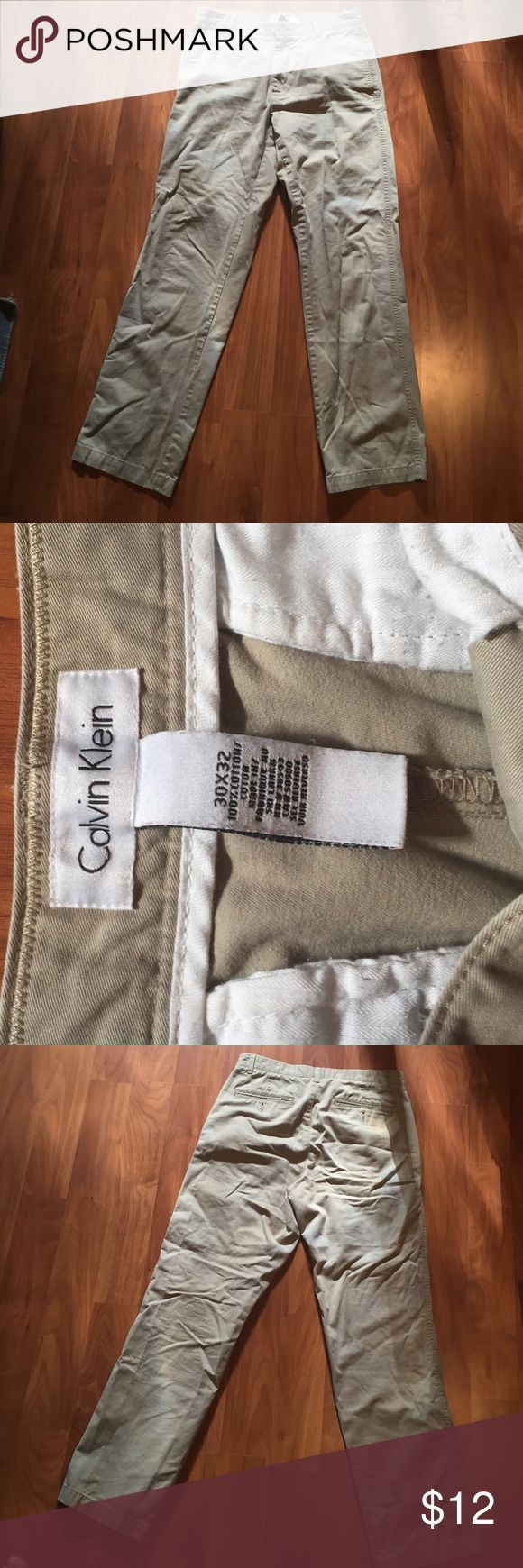 MUST GO! Calvin Klein Men's Khaki Pants These are in good shape. No stains or flaws just need to be ironed. Size 30 32. Make offers! Calvin Klein Pants Chinos & Khakis