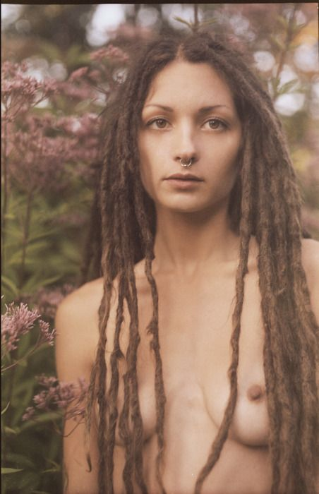 Girl with dreadlocks squirts