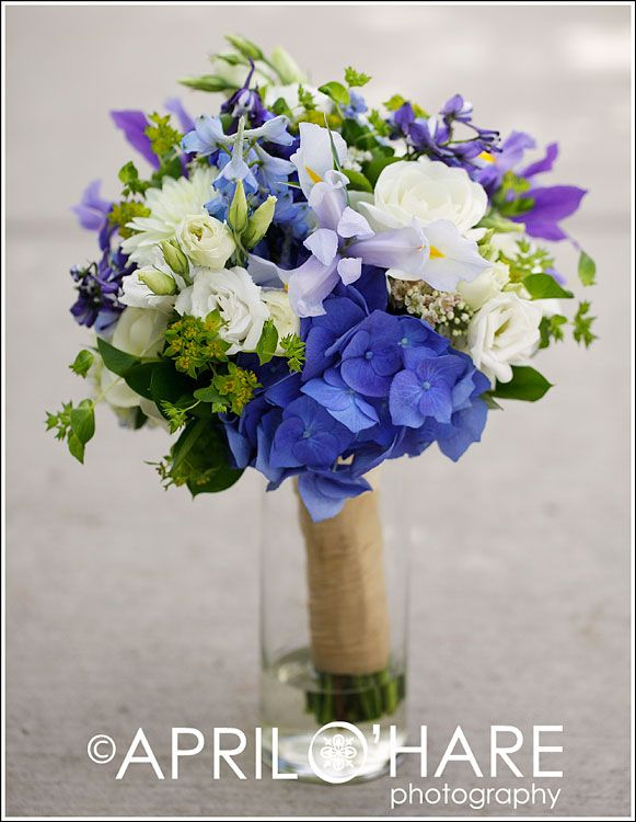 blue purple and white flowers wedding - Google Search