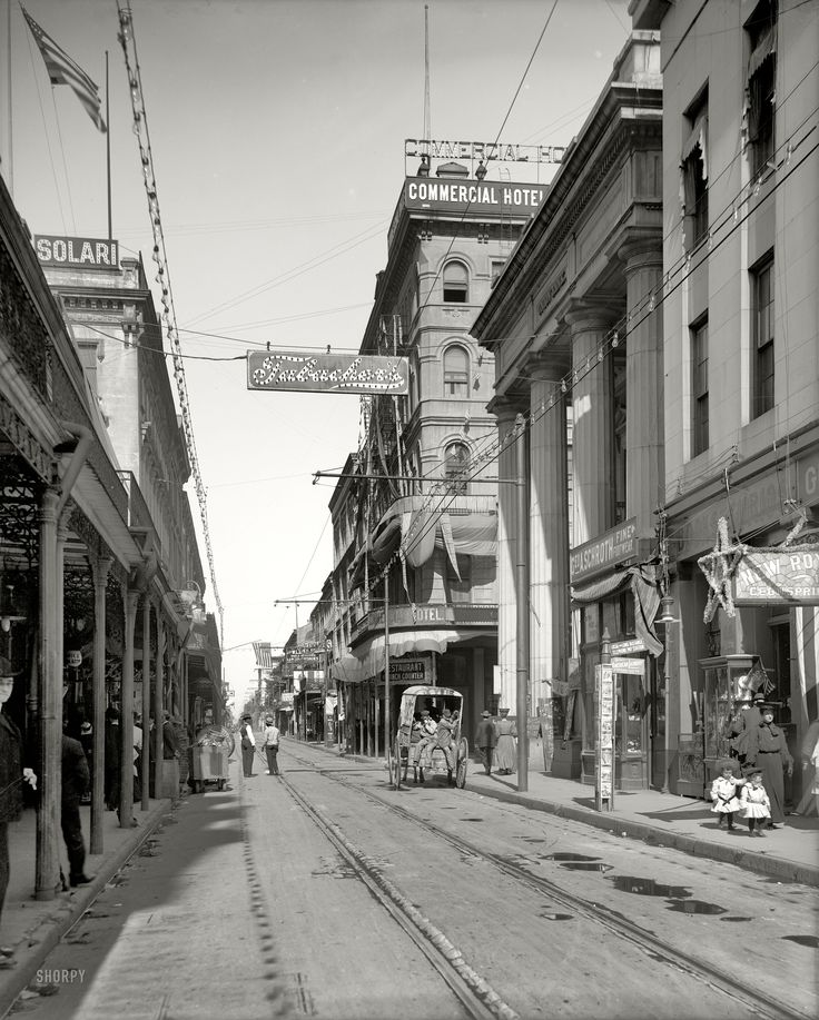 "New Orleans circa 1906. ""Royal Street from Canal Street."" Where the ice man goeth. Shorpy Historical Photo Archive :: Royal Street: 1906"