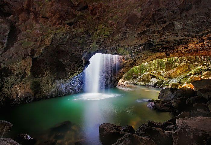 Natural Arch - Springbrook National Park - Queensland, Australia