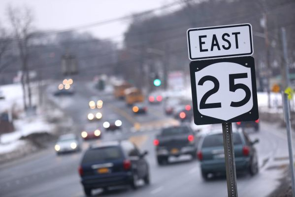 Route 25 in Suffolk County and Route 24 in Nassau were tied for having the most pedestrian deaths in the metropolitan area in an annual