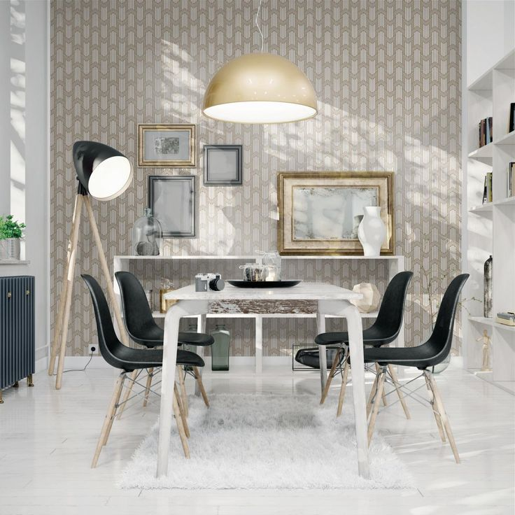 Recalling art déco with glittering finishing and shimmering surfaces #tiles #interiordesign