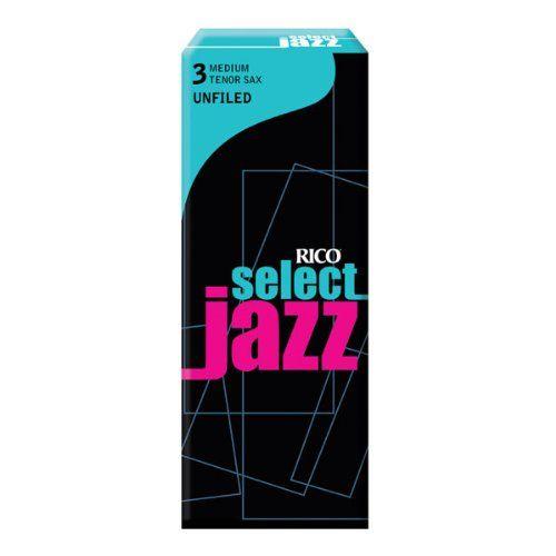 Rico Select Jazz Tenor Sax Reeds, Unfiled, Strength 3 Strength Medium, 5-pack - http://www.rekomande.com/rico-select-jazz-tenor-sax-reeds-unfiled-strength-3-strength-medium-5-pack/