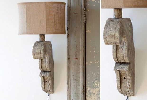 Architectural Beauty: Corbel Sconce - From Antiquefarmhouse.com - http://www.antiquefarmhouse.com/current-sale-events/architectural-accents4/corbel-sconce-w.html