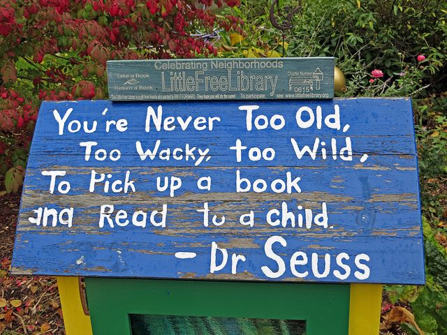 Little Free Library ideas-- quotes, cool idea