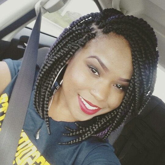 Crochet Box Braids In A Bob : Box braids bob, Box braids and Braids on Pinterest