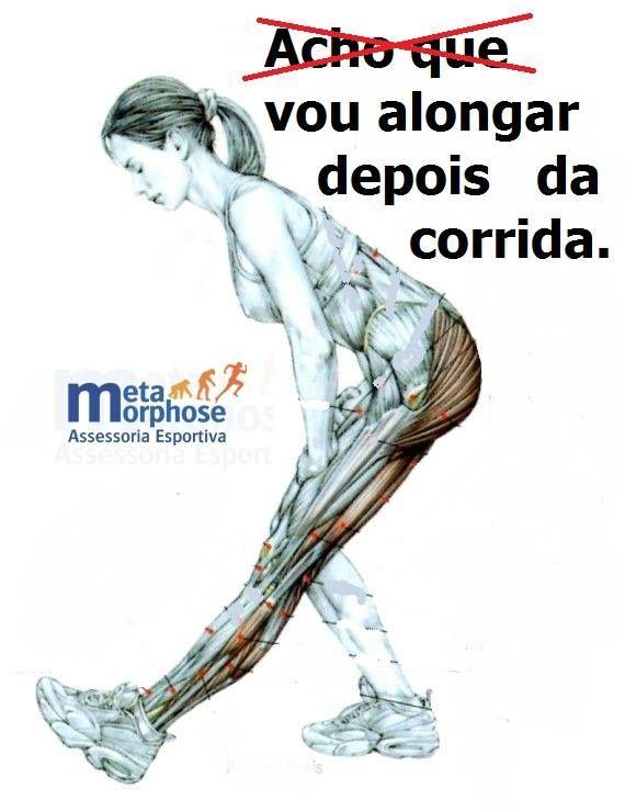 Alongar não significa a prevenção de lesões. No entanto, um bom alongamento ajuda na recuperação do atleta, uma vez que sua função é de relaxar a musculatura do corpo. Quando você corre, será muito exigido de seus músculos, que irão se fortalecer para suportar a atividade. Ao terminar a corrida, você deve se alongar para, aí sim, relaxar a musculatura e contribuir para a recuperação dos seus músculos.
