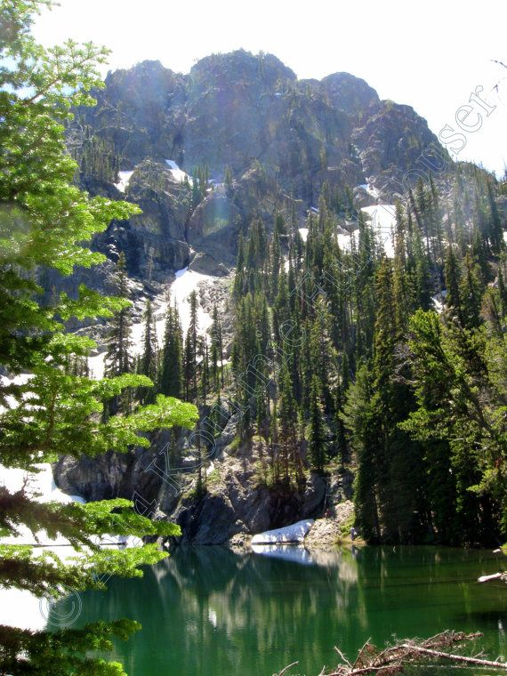 Seven Devils Lake Hell's Canyon Idaho by HikingTuesday on Etsy