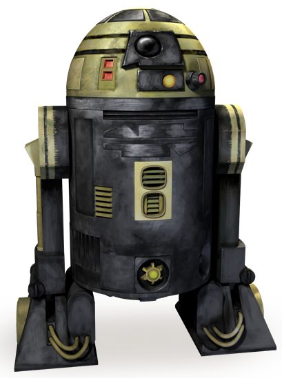R3-S6 - Features in Star Wars: The Clone Wars as a replacement Astromech droid for Anakin when R2 is lost. He is later shown as a spy working for General Grievous. He is soon after destroyed by R2-D2 himself.