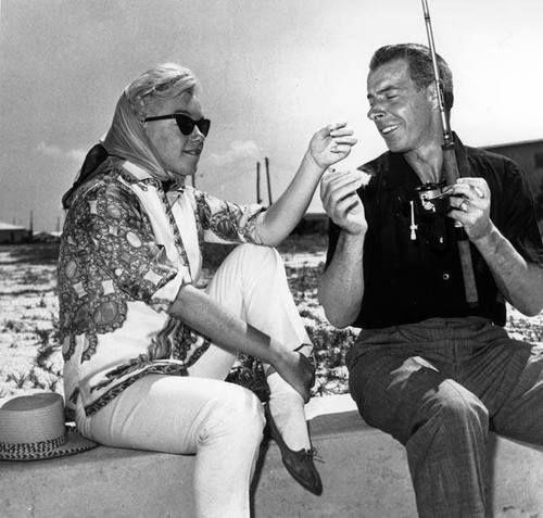 Marilyn Monroe & Joe DiMaggio in Florida, March 1961.
