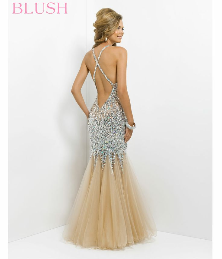 low back prom dress 2014   ... ORDER) Blush 2014 Prom Dresses - Nude Sequin Sexy Low Back Prom Dress