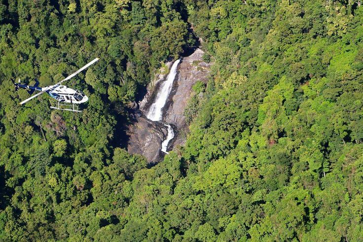 Helicopter World Heritage rainforestStunning waterfalls = Perfect ingredients for a day well spent.by @gbrhelicopters in #portdouglasdaintree