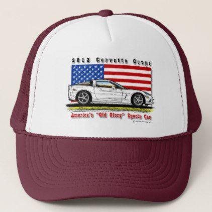 2012 Corvette Coupe Baseball / Trucker Cap - accessories accessory gift idea stylish unique custom