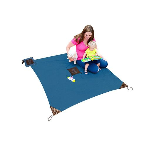 Monkey Mat: The Monkey Mat is a clean, portable surface you can take everywhere! Machine washable with an attached pouch so nothing gets lost, this 5' x 5' mat is perfect for adventures indoors and out. #MonkeyMat #HolidayGiftGuide