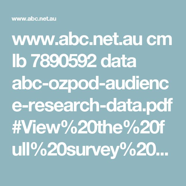 www.abc.net.au cm lb 7890592 data abc-ozpod-audience-research-data.pdf#View%20the%20full%20survey%20results%20and%20research